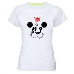 Женская спортивная футболка Bear panda