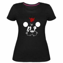 Женская стрейчевая футболка Bear panda