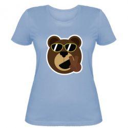 Женская футболка Bear sticker