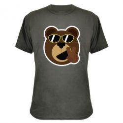 Камуфляжная футболка Bear sticker
