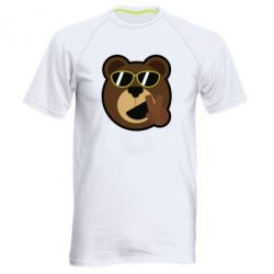 Мужская спортивная футболка Bear sticker