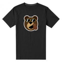 Мужская стрейчевая футболка Bear sticker