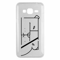 Чехол для Samsung J3 2016 Bear stripes