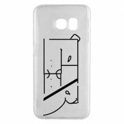 Чехол для Samsung S6 EDGE Bear stripes