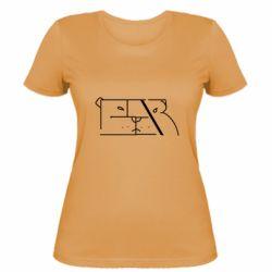 Женская футболка Bear stripes