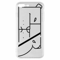 Чехол для iPhone 7 Plus Bear stripes