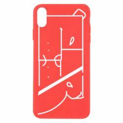 Чехол для iPhone X/Xs Bear stripes