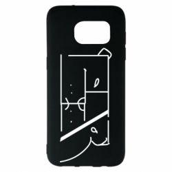 Чехол для Samsung S7 EDGE Bear stripes
