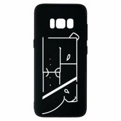 Чехол для Samsung S8 Bear stripes