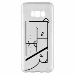 Чехол для Samsung S8+ Bear stripes