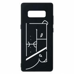 Чехол для Samsung Note 8 Bear stripes