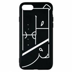 Чехол для iPhone 8 Bear stripes