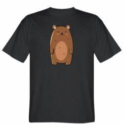 Мужская футболка Bear with a smile