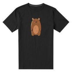 Мужская стрейчевая футболка Bear with a smile