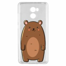 Чехол для Xiaomi Redmi 4 Bear with a smile