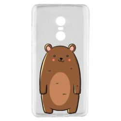 Чехол для Xiaomi Redmi Note 4 Bear with a smile