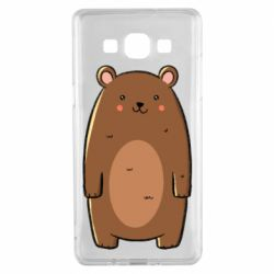 Чехол для Samsung A5 2015 Bear with a smile