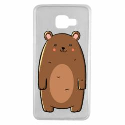 Чехол для Samsung A7 2016 Bear with a smile