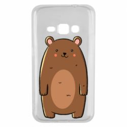 Чехол для Samsung J1 2016 Bear with a smile