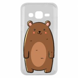 Чехол для Samsung J2 2015 Bear with a smile