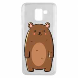 Чехол для Samsung J6 Bear with a smile