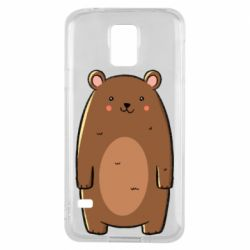 Чехол для Samsung S5 Bear with a smile