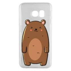 Чехол для Samsung S6 EDGE Bear with a smile