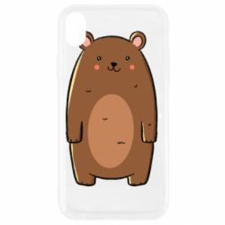Чехол для iPhone XR Bear with a smile