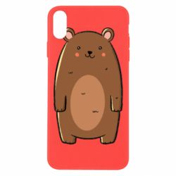 Чехол для iPhone Xs Max Bear with a smile