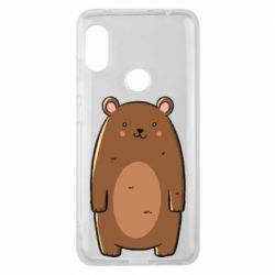 Чехол для Xiaomi Redmi Note 6 Pro Bear with a smile