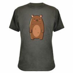 Камуфляжная футболка Bear with a smile