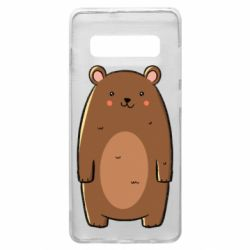 Чехол для Samsung S10+ Bear with a smile