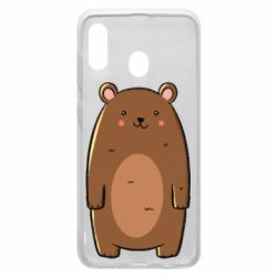 Чехол для Samsung A20 Bear with a smile