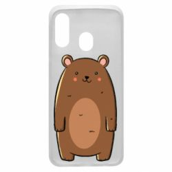 Чехол для Samsung A40 Bear with a smile