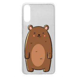 Чехол для Samsung A70 Bear with a smile