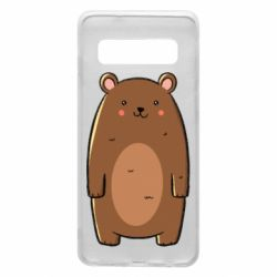 Чехол для Samsung S10 Bear with a smile