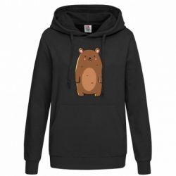 Женская толстовка Bear with a smile