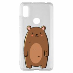 Чехол для Xiaomi Redmi S2 Bear with a smile
