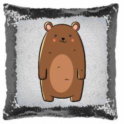 Подушка-хамелеон Bear with a smile