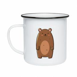 Кружка эмалированная Bear with a smile