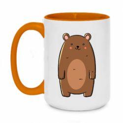 Кружка двухцветная 420ml Bear with a smile