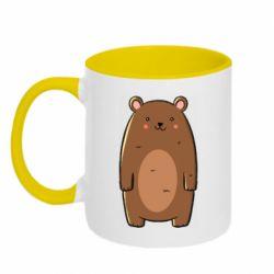 Кружка двухцветная 320ml Bear with a smile