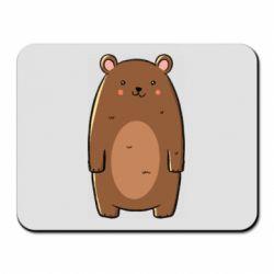 Коврик для мыши Bear with a smile