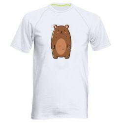 Мужская спортивная футболка Bear with a smile