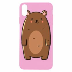 Чехол для iPhone X/Xs Bear with a smile