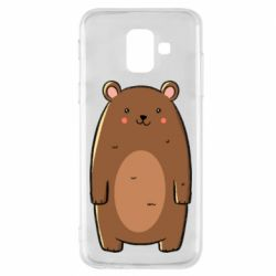 Чехол для Samsung A6 2018 Bear with a smile