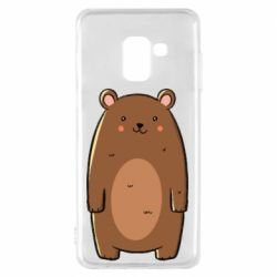 Чехол для Samsung A8 2018 Bear with a smile