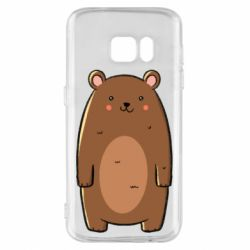 Чехол для Samsung S7 Bear with a smile
