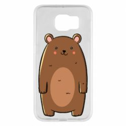 Чехол для Samsung S6 Bear with a smile