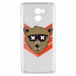 Чехол для Xiaomi Redmi 4 Bear with glasses